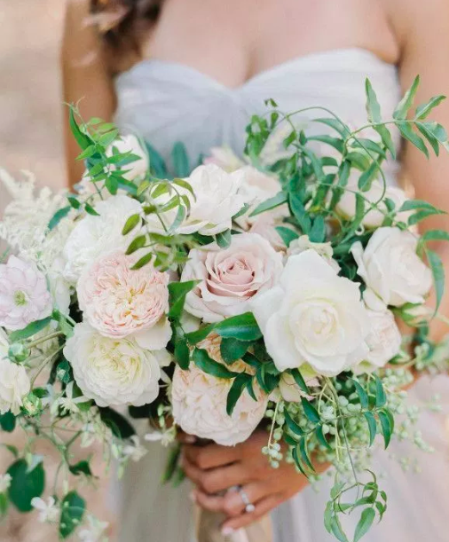 Bridal Bouquet with Greens and Vines