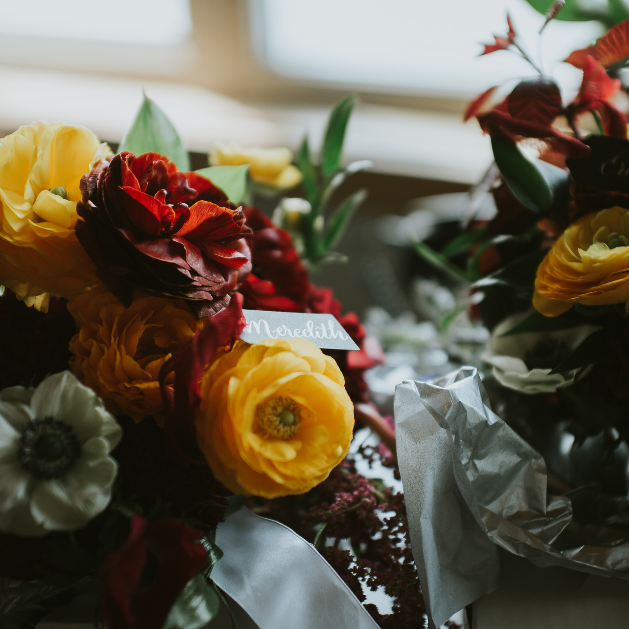 ranunculous and anemone bridal bouquet