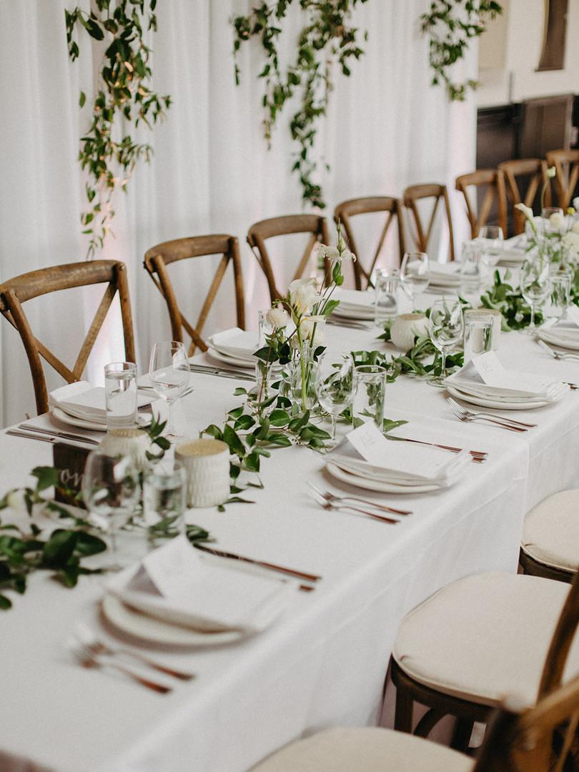 Wedding Reception Greenery