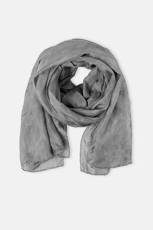 Alkanet & Iron Grey Silk Scarf