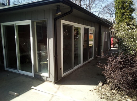 Three new sliding doors makes for one cool sunroom