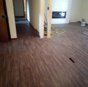 Finished flooring