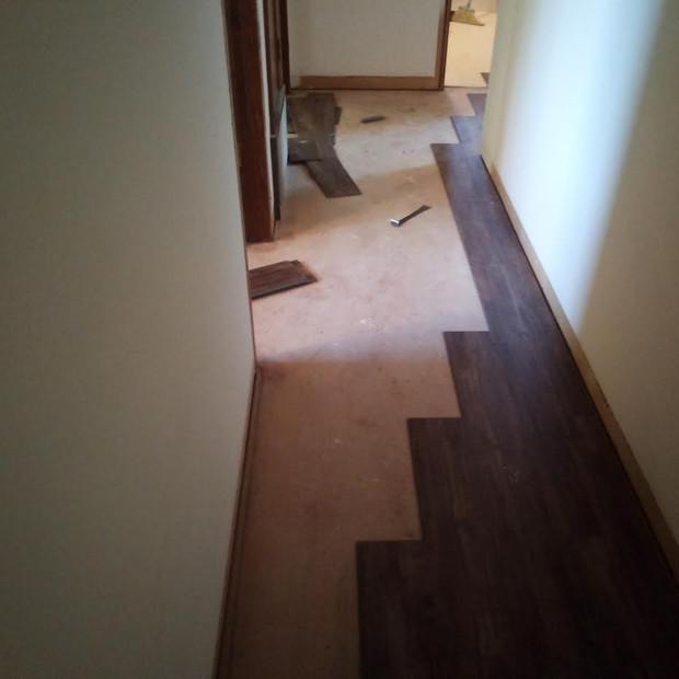 Flooring the hallway