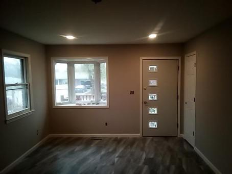 Best home remodel contractor near me, new doors and vinyl plank flooring.