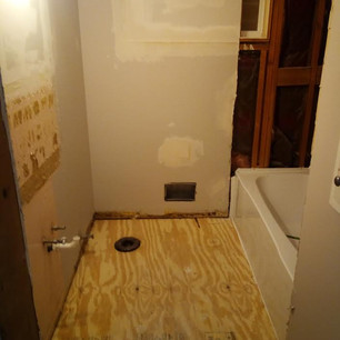 New Subfloor in Bathroom Remodel