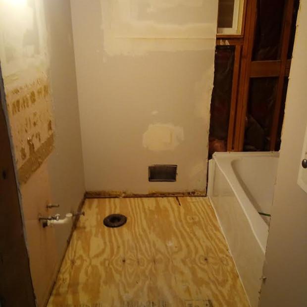 New Subfloor in Bathroom Remodel