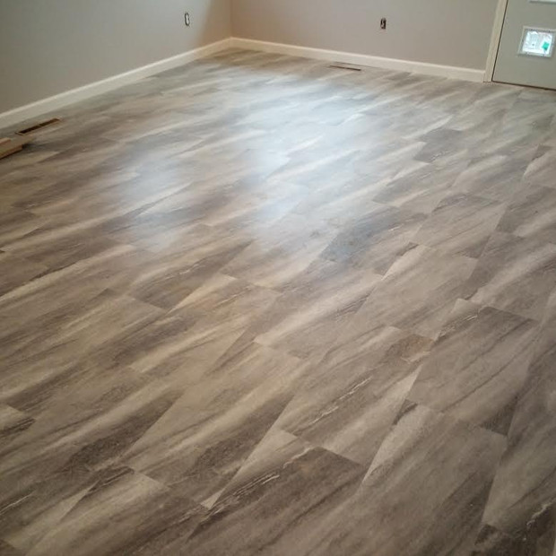 New base board and flooring