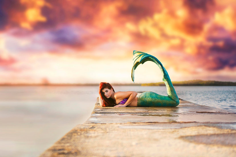 5x7 Metallic Mermaid Print
