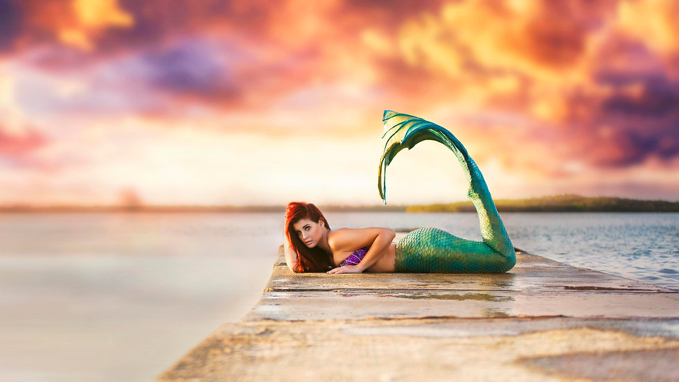 4X6 Matte Mermaid Print