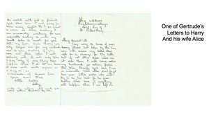 One of Gertrude's Letters to Harry and his wife, Alice