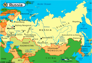 Map of Russia  circa 2000