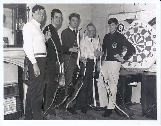 1968 - archery darts above The Old Cock Inn, Droitwich