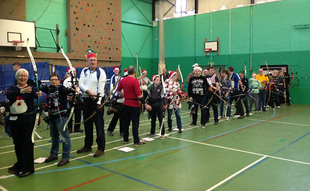Christmas fun shoot at Droitwich Archery Society