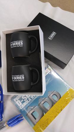 DUPONT D-Series mugs, close up
