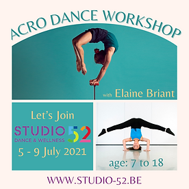 Acro Dance Workshop - Stage Acro Danse