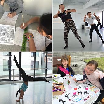 Danses modernes, acrobaties, yoga et arts plastiques