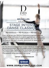 stage intensif en danse classique