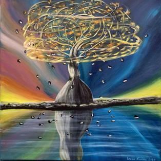 """Obraz """"Drzewo yin yang"""""""
