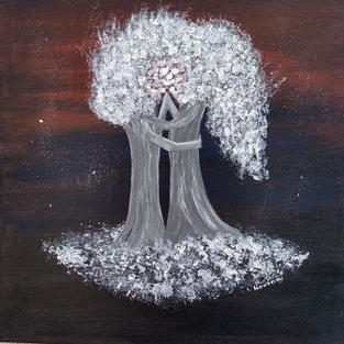 """Obraz """"Ślubny taniec drzew"""""""