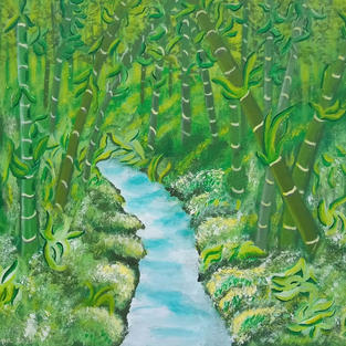 "Obraz ""Las bambusowy"""