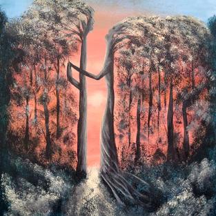 """Obraz """"Drzewa żyją stojąc"""""""