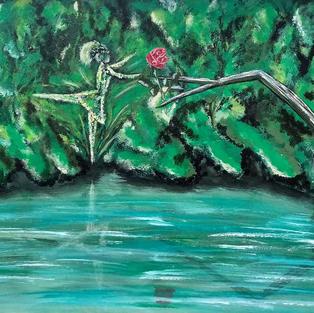"""Obraz """"Roztańczony duszek leśny"""""""