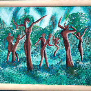"""Obraz """"Roztańczony las o świcie"""" 50 x 40 cm"""