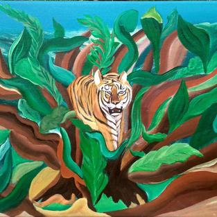 """Obraz """"Dżungla"""" 50 x 40 cm"""
