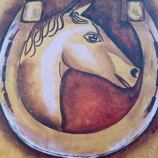 """Obraz """"Koń w podkowie"""""""