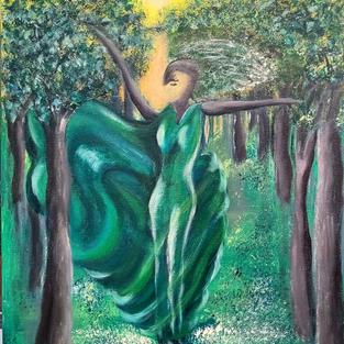 """Obraz """"Nimfa leśna"""". Wymiar 60 x 40 cm."""