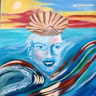 """Obraz """"Wenus z muszlą"""" 50 x 40 cm"""