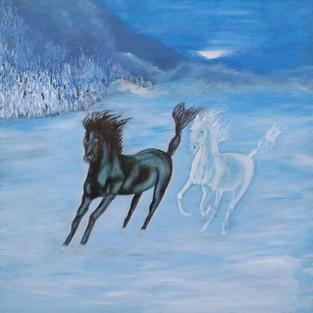 """Obraz """"Widmowe konie w galopie"""""""