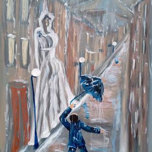 """Obraz """"Piosenka deszczowa lub Julia i Romeo"""""""
