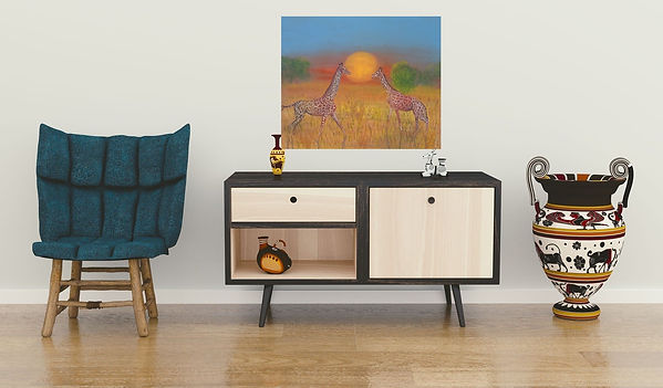 pokój obraz Tęczowe żyrafy.jpg