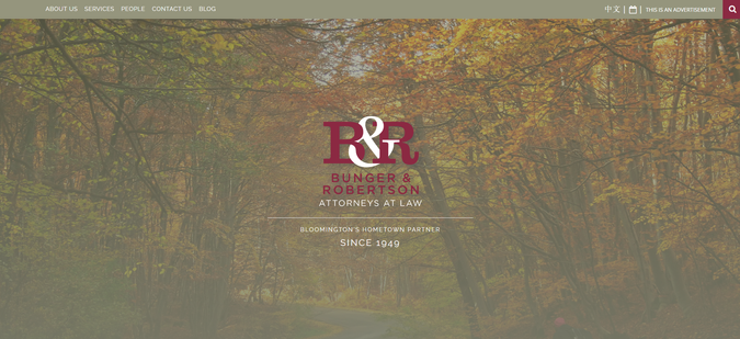 "Website: ""Bunger & Robertson"" Client: Bunger & Robertson, attorneys at law"