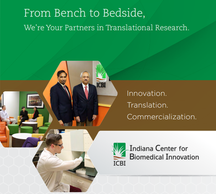 "Brochure: ""From Bench to Bedside"" Client: Indiana Center for Biomedical Innovation"