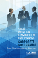 """Brochure: """"Corporate Governance"""" Client: NAMIC"""