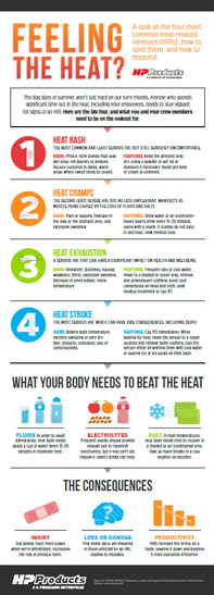 """Infographic: """"Feeling the Heat?"""" Client: HP Products"""