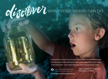 "Brochure: ""Shine Brighter"" Client: Willow Marketing"