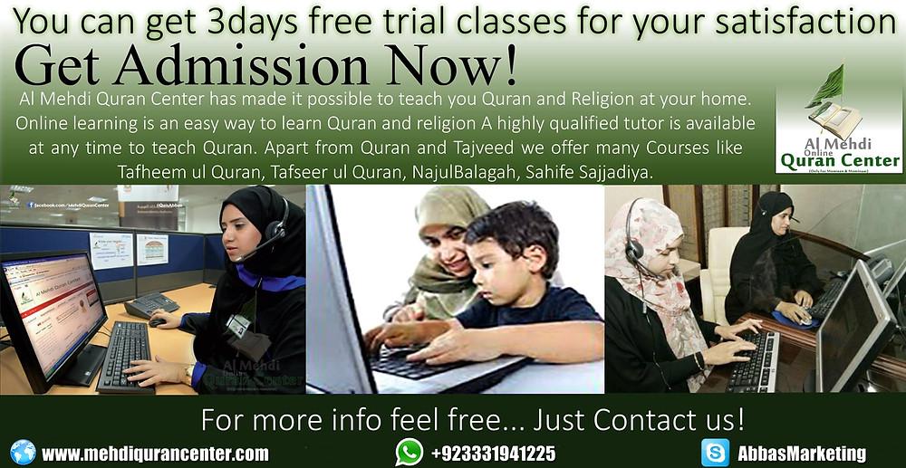 Online Shia Teacher ad