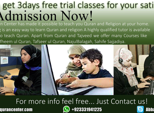 Momineens start learning Quran today!