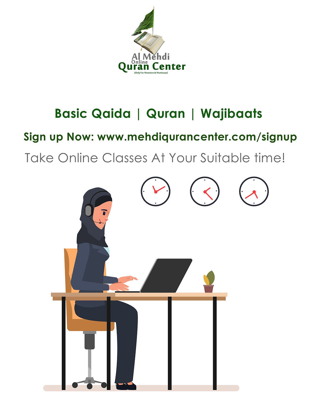 Al Mehdi Online Quran Center ad Online Quran Teaching Center for Shia Muslims