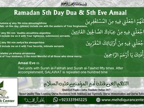 Ramadan 5th Day Dua & Amaal Eve 05