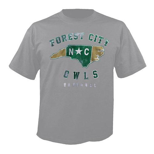 Forest City Owls Baseball Grey