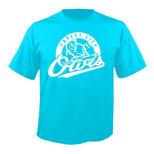 Baby Blue FC Owls Logo Shirt