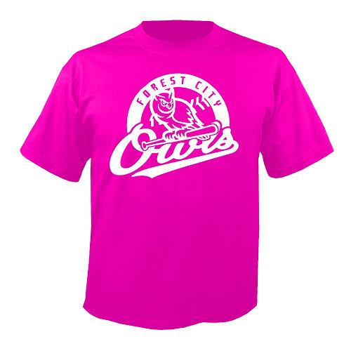 Neon Pink FC Owls Logo Shirt