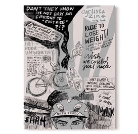 Cyclista Zine Cover Art, Illustration, Co-editor