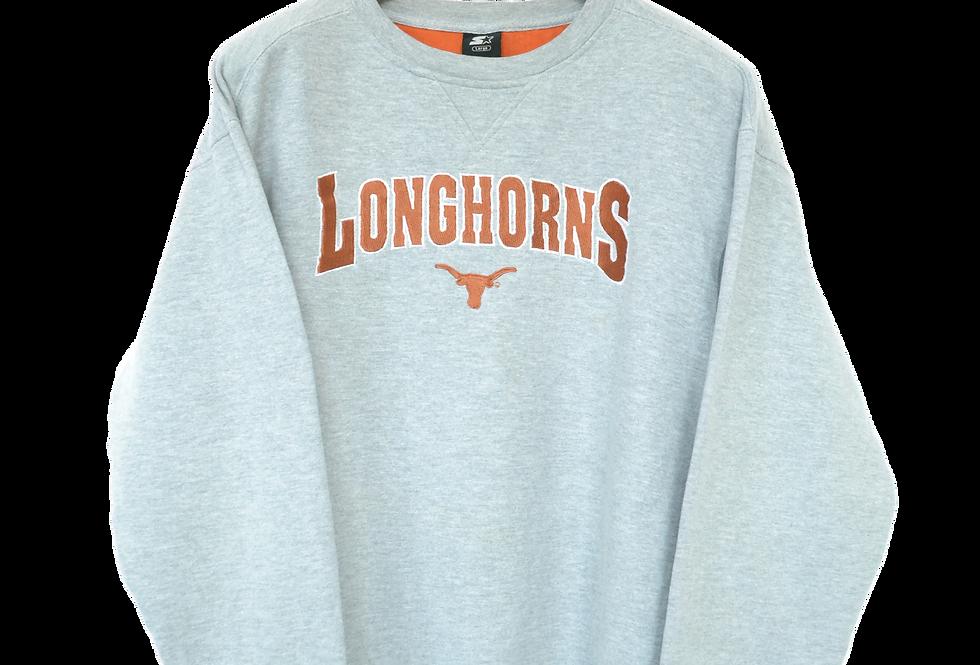 Longhorns American Football Spellout Sweatshirt L