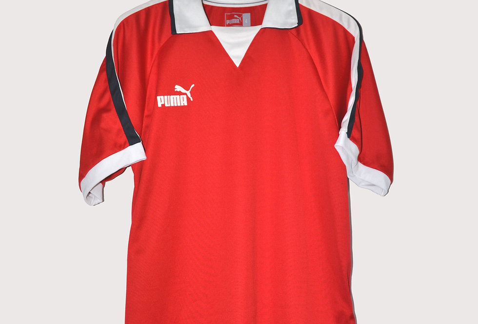 Puma Logo Sport Polo Red L