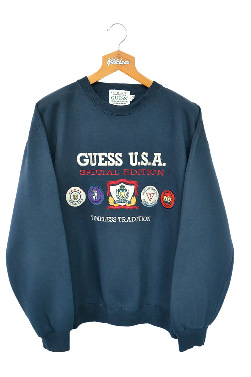 Guess U.S.A Special Edition 1992 Spellout Sweatshirt XL